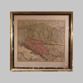 Landkarte Donaustrom Danube
