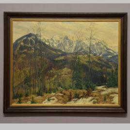 Paul Förtsch, Herbstlandschaft mit Bergkulisse, 20. Jh.
