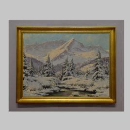 Eisenberger, Winterlandschaft, um 1930