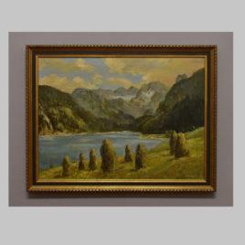 J. Brenner, Landschaft mit Heumanderl, 1 H. 20. Jh.