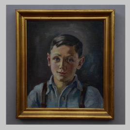 Maria Sturm, Porträt eines Jungen, 1948