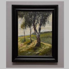 R. Schuck, Landschaft mit Birken, 1. H. 20. Jh.