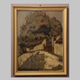 Unbekannte/r Künstler/in, Ansicht eines Kirchhofs, um 1900